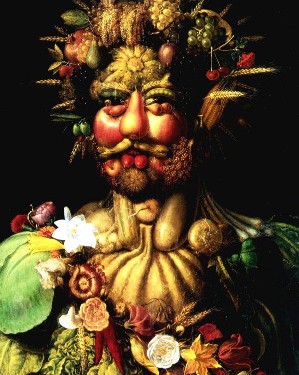 Giuseppe Arcimboldo 1591 Portrait de Rodolphe II en habit de Vertumne